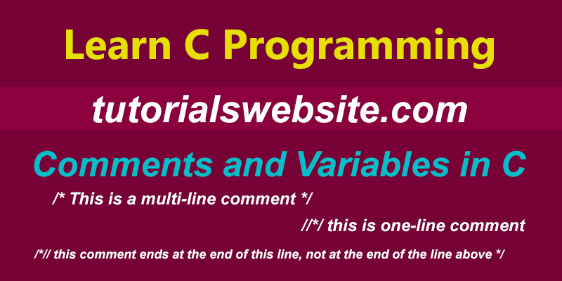 comment-variable-in-c