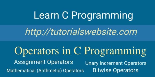 operators-in-c-programming