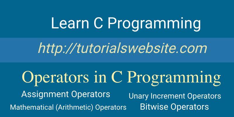 operators-in-c-programming