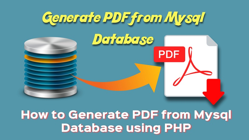 Generate PDF from mysql database
