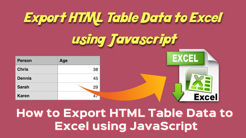 export-html-table-data-to-excel