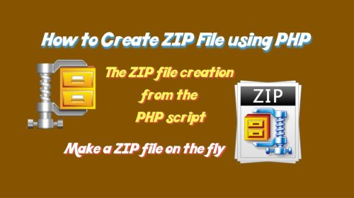 create-zip-file-using-php