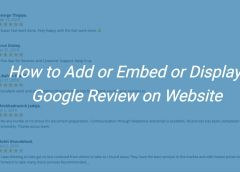 How to Add or Embed Google Review on your website