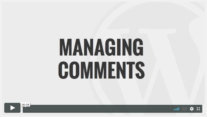 Managing Comments