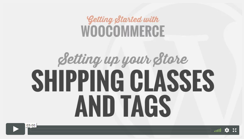 Shipping Classes And Tags