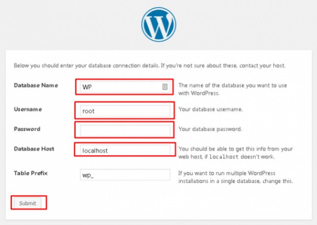 Data database WordPress
