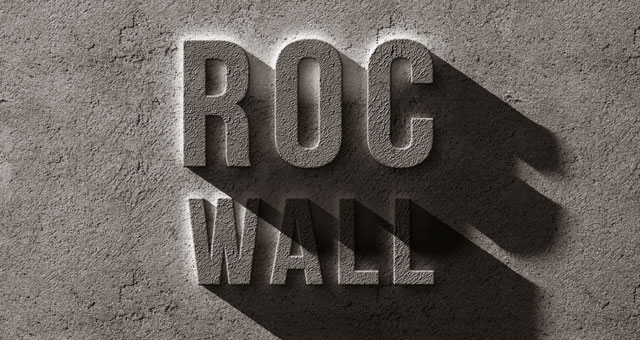 rock wall concrete stone text effect style psd