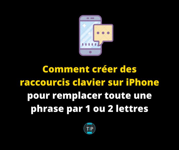 Comment créer des raccourcis clavier sur iPhone pour remplacer toute une phrase par 1 ou 2 lettres