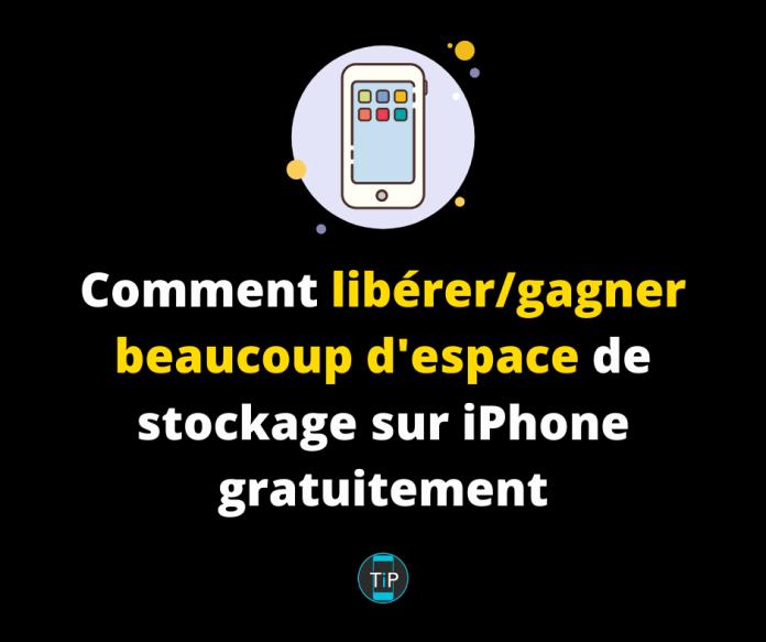 Comment libérer/gagner beaucoup d'espace de stockage sur iPhone gratuitement