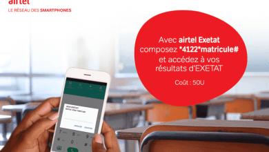 vérifier les résultats d'exetat avec Airtel