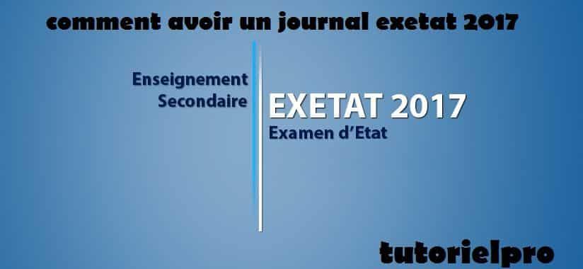 journal exetat 2017