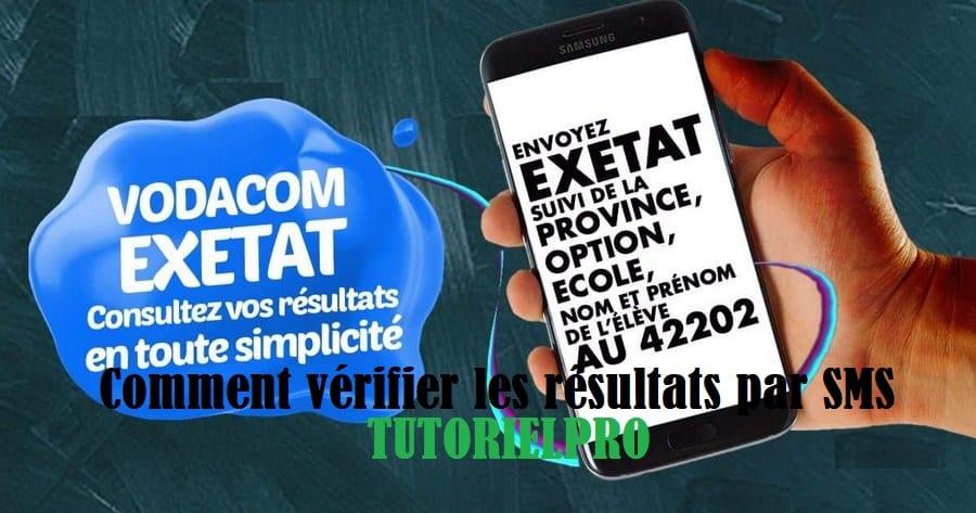 vérifier les résultats d'exetat par SMS