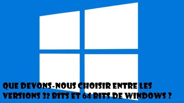 64 ou 32 bits Windows