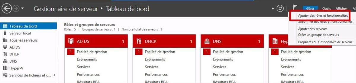 ajouter des rôles ou des fonctionnalités Windows Serveur