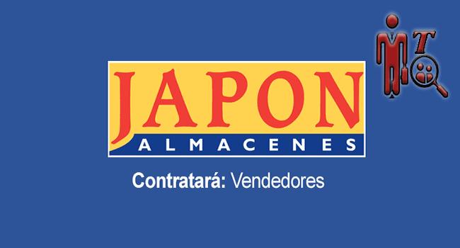 Anuncio de Almacenes Japón en donde se indica que se busca vendedor.