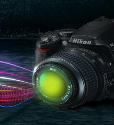 Montage photo avec un effet de lumière directionnel