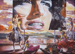 Sergio Nardoni: Una carezza per Anna - olio su tela cm.50x70