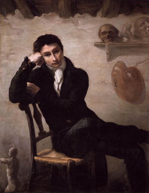 romanticismo in arte: Théodore Géricault, Self-Portrait (1819)