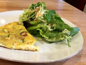 frittata and salad