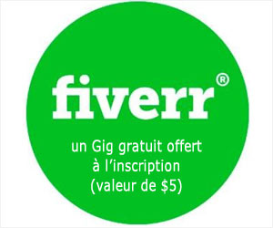 Fiverr : un Gig offert à l'inscription