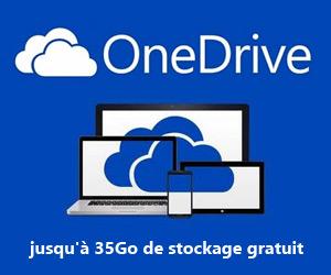 OneDrive : jusqu'à 35Go de stockage gratuit