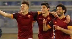 El Shaarawy Perotti Salah Roma-Fiorentina
