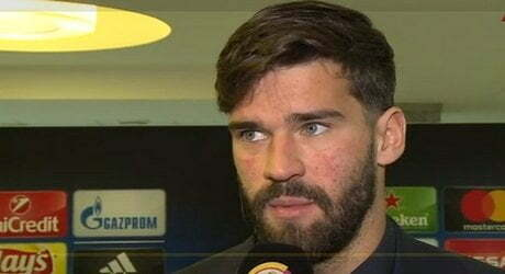 Alisson Mixed-zone Shakhtar Donetsk-Roma 21 02 2018