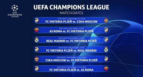 Calendario Champions Legue.Champions League Real Madrid Roma Il 19 Settembre Alle 21 00
