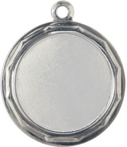 medaglia colore argento diametro 32