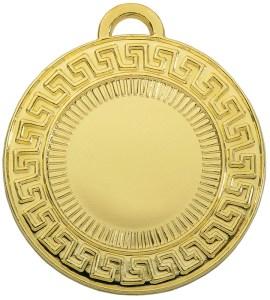 medaglia colore oro greca diametro 50