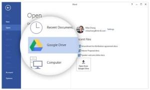 Google Drive plugin per Microsoft Office