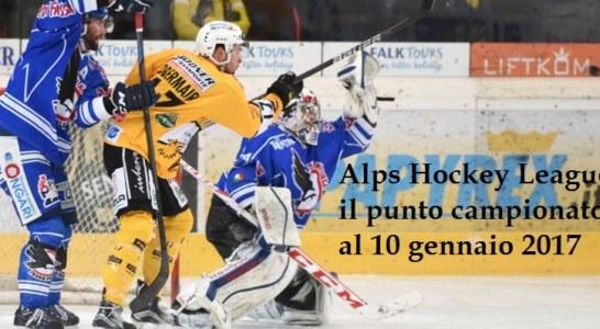 Alps Hockey League: il punto campionato al 10 gennaio