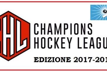 Champions Hockey League: da stasera l'edizione 2017-2018