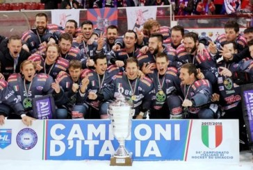 Elite Italian Hockey League: scudetto 2018 al Renon che serve il tris