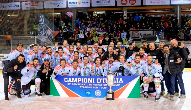 Elite Italian Hockey League: quarto scudetto di fila per il Renon