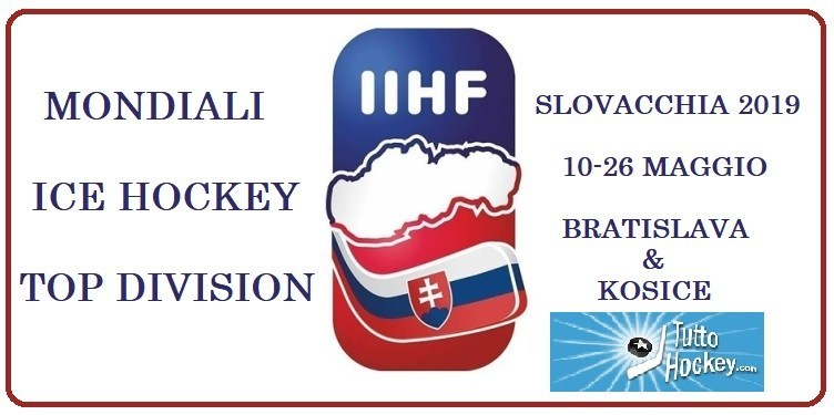 Mondiali IIHF: al via da oggi la Top Division 2019