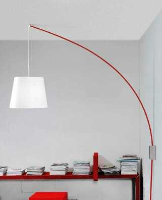 parete sospensione Cursore Marchetti tuttoluce dettaglio rossa