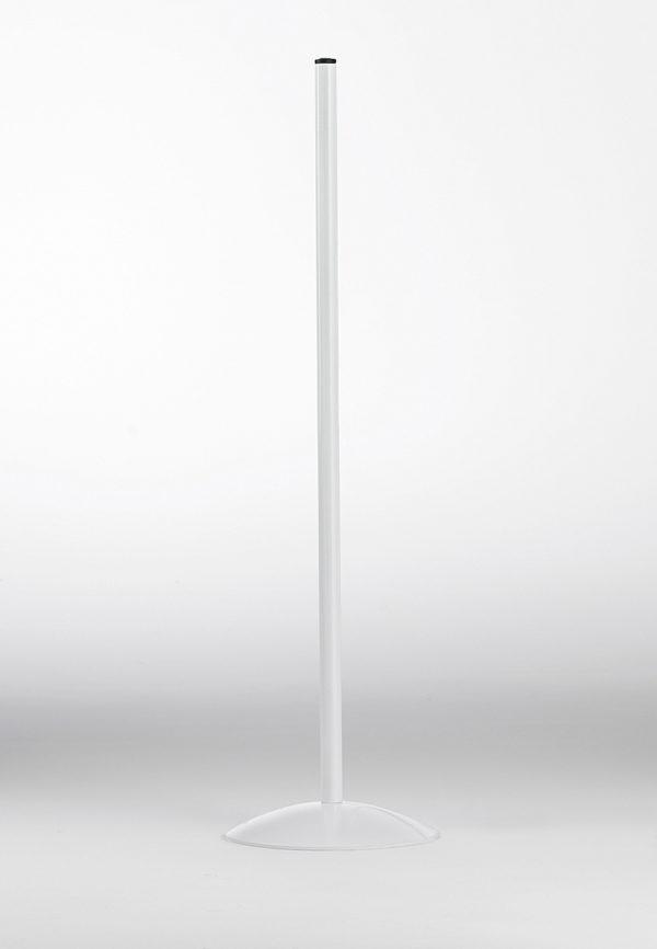 Piedistallo in metallo colore bianco per Lampada scrivania 4025
