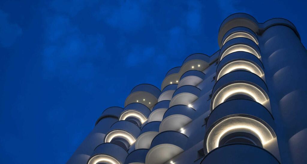 Progetto di illuminazione Hotel Meeting Riccione