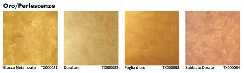 Oikos tinteggiatura decorativa interno oro perlescenze