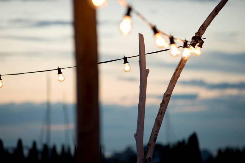 luci per esterno catenaria di lampadine per feste ed eventi