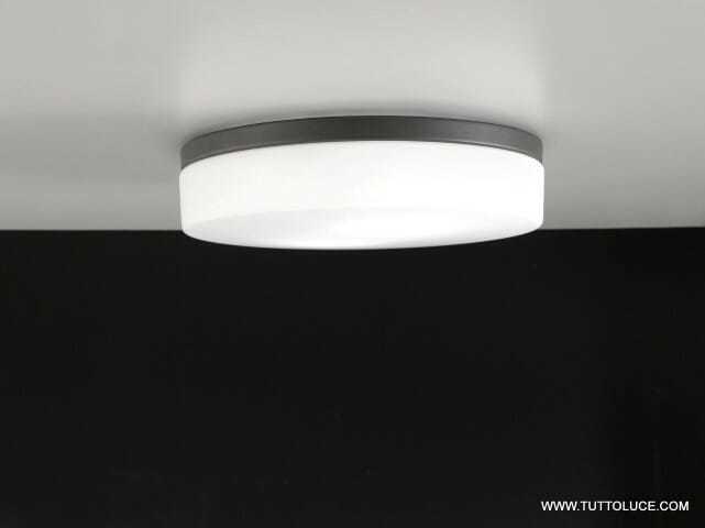 lampade moderne vetro led grigia