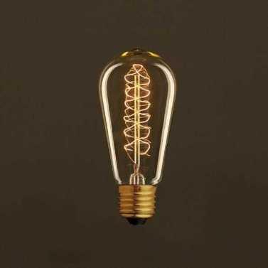 lampadina led filamento carbon st64 cono spirale av645_1