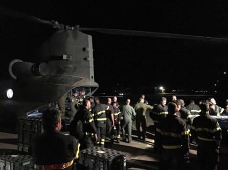 Elicottero CH-47 alla base di Grosseto