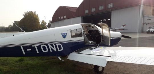 Il PA28-161 I-TOND, inserito da pochi mesi nella flotta dell'Aero Club Milano