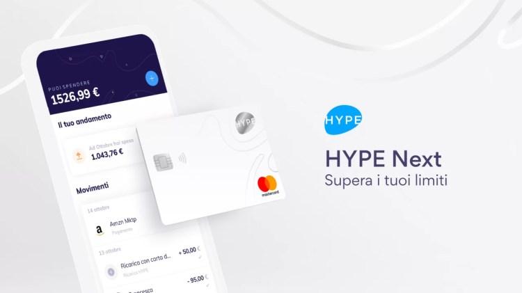 HYPE Next, ecco il nuovo conto digitale con servizi a valore aggiunto