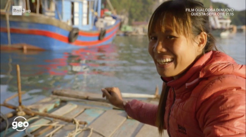 un frame del documentario sulla Baia di Ha Long trasmesso da Geo su Rai3