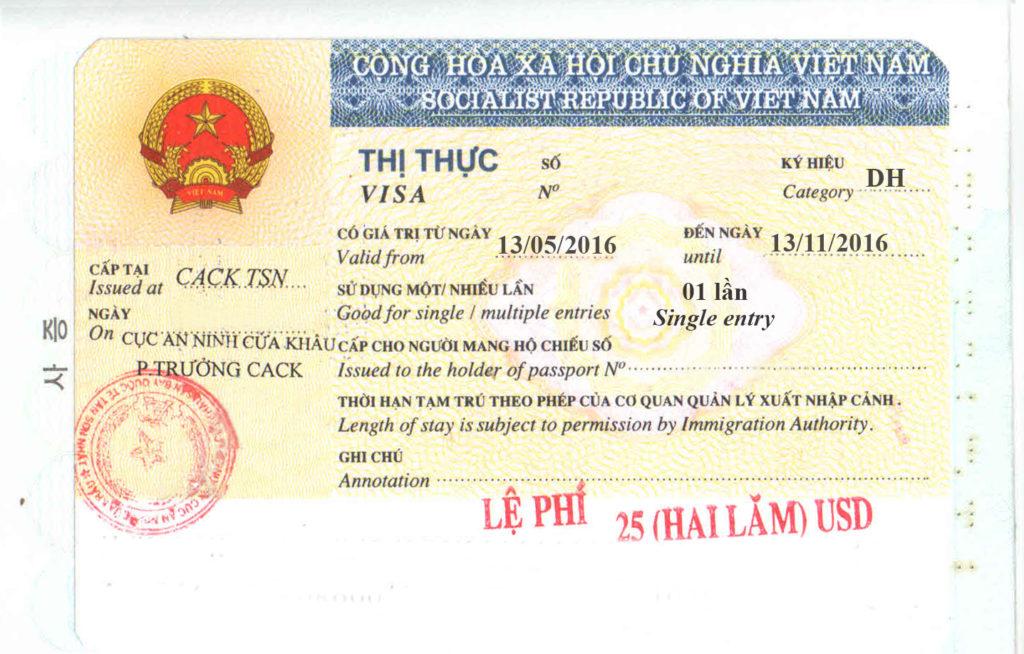 visto di studio per il Vietnam