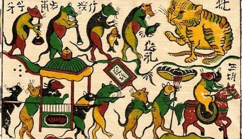 il matrimonio dei ratti, esempio del topo nella cultura vietnamita