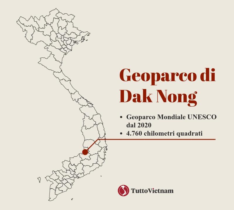 i Geoparchi UNESCO del Vietnam: il Geoparco di Dak Nong